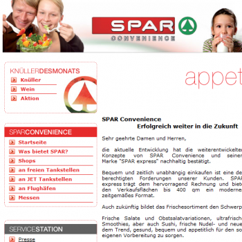 SPAR Convenience - Webseite